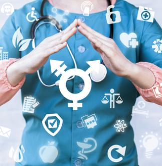 Doctor demonstrating safety for transgender patients
